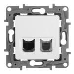 Розетка телефон+компьютер Legrand Etika RJ11+RJ45 Cat5 UTP, белый