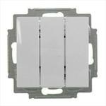 Выключатель трехклавишный ABB Basic 55 цвет белый шале (106/3/1 UC-96)