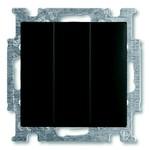 Выключатель трехклавишный ABB Basic 55 цвет черный (106/3/1 UC-95)