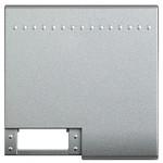 LivingLight Клавиша с 1 отверстием для вставки символа, размер 2 модуля, цвет алюминий