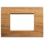 LivingLight Рамка прямоугольная, 3 модуля, цвет Европейский орех