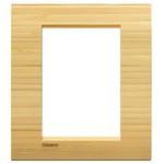LivingLight Рамка прямоугольная, 3+3 модуля, цвет Бамбук