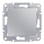 Кнопочный выключатель Sedna алюминий