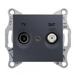 Sedna TV/SAT розетка оконечная, графит