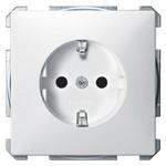 Розетка c/з с защитными шторками Merten System Design Полярно-белый