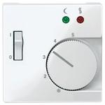 Накладка терморегулятора теплого пола с выключателем System M Merten полярно-белый
