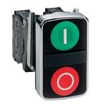 Двойная кнопка Schneider Electric XB4BL73415 с маркировкой 22мм