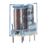 Миниатюрное PCB-реле Finder выводы 5мм, 1 контакт, 10A DC 24В AgNi