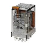 Миниатюрное реле Finder 4 контакта 7A AC (50/60Гц) 230В AgNi кнопка тест с блокировкой + LED (AC)