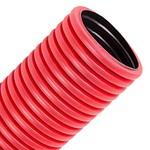 Труба гофрированная двустенная д.63 ПЭ гибкая тип 450 с зондом красная  [100м/уп]