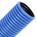 Труба гофрированная двустенная д.63 ПЭ гибкая тип 450 с зондом синяя  [100м/уп]