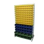 Односторонняя желто-сине-зеленая стойка 1150х2000 стелла в1-10-03-02