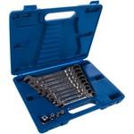Набор комбинированных трещоточных ключей (8-19 мм, кейс, 13 предметов) king tony 13013mr