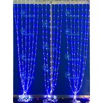 Светодиодный занавес Водопад Rich LED, прозрачный провод , 2х3 м, теплый белый, RL-WF2*3C3/2-T/WW