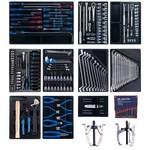 Набор инструментов для тележки (10 ложементов, 204 предмета) king tony 946-100mrd-mt