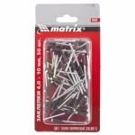 Заклепки 4,0 х 10 мм RAL 8017 (темно-коричневый), 50 шт. MATRIX 40680