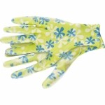 Перчатки садовые из полиэстера с нитриловым обливом, зеленые, S PALISAD 67741