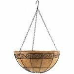 Подвесное кашпо с орнаментом, 30 см, с кокосовой корзиной PALISAD 69004
