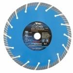 Диск алмазный Турбо-сегментный ф230х22,2 мм, сухое резание БАРС 73089