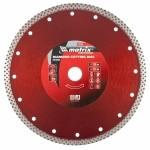 Диск алмазный отрезной сплошной, 230 х 22,2 мм, сухая резка MATRIX Professional 73136