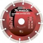 Диск алмазный отрезной сегментный, 230 х 22,2 мм, сухая резка MATRIX Professional 73177
