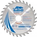 Пильный диск по дереву 190 x 20/16мм, 24 твердосплавных зуба БАРС 73367