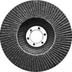 Круг лепестковый торцевой, конический, Р 80, 125 х 22,2 мм СИБРТЕХ 74085