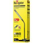 Светильник Navigator 71 573 NDF-C004-7W-4K-BL-LED прищепка, гибкий, черный