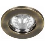 Светильник потолочный, MR16 G5.3 античное золото, DL10