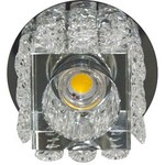 Светильник потолочный 10W  220V/50Hz 600Lm 3000K прозрачный, хром, JD58