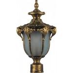 Светильник садово-парковый, 60W 230V E27 IP44 черное золото, PL4055