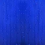 """Гирлянда """"Светодиодный Дождь"""" 2х9м, постоянное свечение, прозрачный провод, 220В, диоды Синие, LUX"""