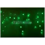 Гирлянда Айсикл (бахрома) светодиодный, 3,3 х 0,6 м, прозрачный провод, 220В, диоды зеленые LUX