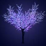 """Светодиодное дерево """"Сакура"""", высота 3,6м, диаметр кроны 3,0м, синие светодиоды, IP 54, понижающий т"""