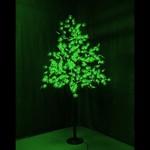 """Светодиодное дерево """"Клён"""", высота 2,1м, диаметр кроны 1,8м, зеленые светодиоды, IP 65, понижающий т"""