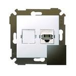 Механизм розетки телефонной RJ11 Simon34 графит 34480-038