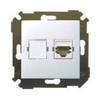 Механизм розетки компьютерной (интернет) СП Simon34 RJ45 бел. Simon 34598-030