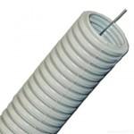 Труба гофрированная ПВХ 40мм с протяжкой серая (15м) (CTG20-40-K41-015I)