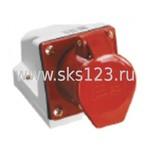 Розетка кабельная 16А 3Р+E IР44 на поверхность 380В 114 (PSR12-016-4)