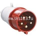 Вилка кабельная 32А 3Р+N+Е IР44 переносная 380В 025 (PSR02-032-5)