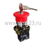 Кнопка красная с ключом LAY5-BS142 Гриб 22мм 240В (BBG50-LAY5-K04)
