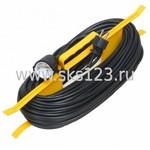 Удлинитель силовой 1 розетка шнур 20м ПВС 2х0.75 УР20 (WKF20-06-01-20)