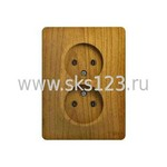 GLOSSA Розетка двойная без заземления дуб в сборе (GSL000520)