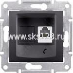 SEDNA Розетка телефонная RJ11 в рамку графит (SDN4101170)
