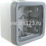 PLEXO Коробка распределительная для наружного монтажа IP55 серая 1 пост (69651)