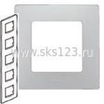 ETIKA Рамка 5 постов алюминий (672555)