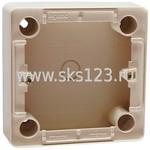 CARIVA Коробка установочная 36 мм для наружного монтажа слоновая кость для розеток с заземлением (773797)