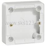 CARIVA Коробка установочная 36 мм для наружного монтажа белая для розеток с заземлением (773697)