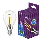 LED G45 E14 5W 480Лм, 2700K, PREMIUM (FILAMENT), теплый свет