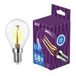 LED G45 E14 5W 480Лм, 4000K, PREMIUM (FILAMENT), холодный свет